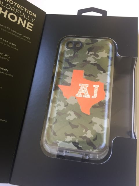 Sample Sale LifeProof Fre iPhone 5c Monogram: AJ